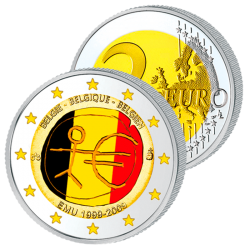 2 Euros Belgique Couleurs...