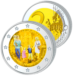 2 Euros Vatican Couleurs –...
