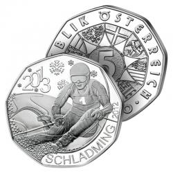 5€ Argent Descente à Ski &...