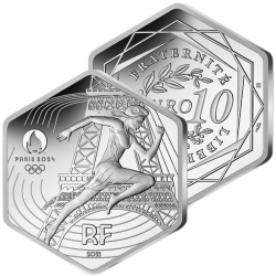 10€ Argent Hexagonale