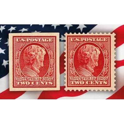 Les Lincoln de 1909 – Dentelé et non dentelé