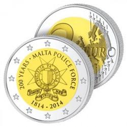 2 Euros Malte 2014 - Police Maltaise