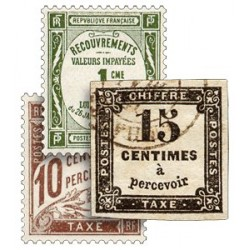 Les 3 Timbres « Chiffres-Taxe »
