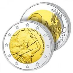 2 Euros Malte 2014 - Indépendance