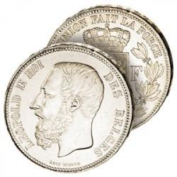 5 Francs Argent Léopold II