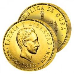 5 Pesos Or Cuba 1916