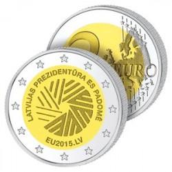 2 Euros Lettonie 2015 – Présidence de l'Union