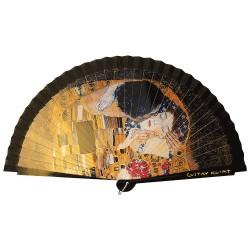 Éventail Le Baiser de Klimt