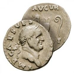Le Denier Argent de Vespasien « Grand Prêtre »