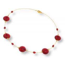 Collier Rouge Profond de Venise