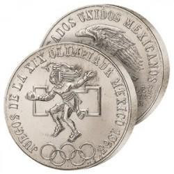 25 Pesos Argent Mexique 1968