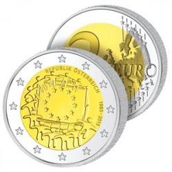 2 Euros Autriche 2015 – Drapeau Européen