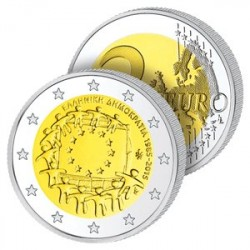 2 Euros Grèce 2015 – Drapeau Européen