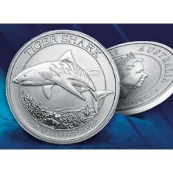 Demi-Dollar Requin Tigre Argent Pur