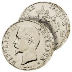 5F Argent Napoléon III tête nue