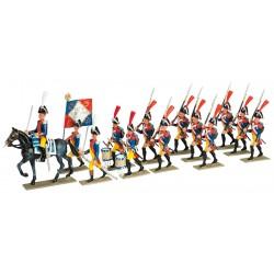 Les Gendarmes à pied en bicorne – 1801