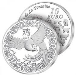 10€ Argent France Année du Coq