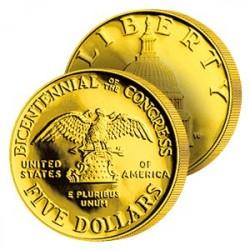 5$ Or Bicentenaire du Congrès USA
