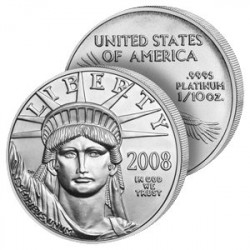 10 Dollars Liberté Platine