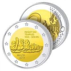 2 Euros Malte 2017 – Temples de Hagar Kim