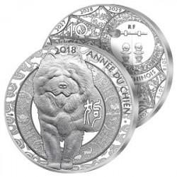 10€ Argent Année du Chien 2018