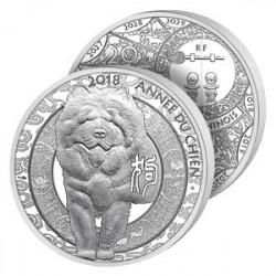 20€ Argent Pur Année du Chien 2018