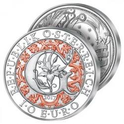 10€ Argent Archange Gabriel en Couleurs