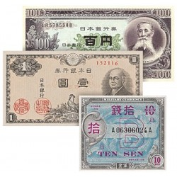 Les 3 Billets Historiques du Japon