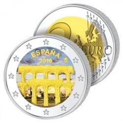 2 Euros Espagne 2016 en Couleurs