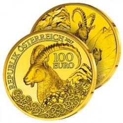 100 €uros Or L'Ibex des Alpes