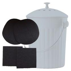 Les 2 Filtres à charbon pour Seau à compost