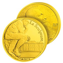 50€ Or Pur Le Penseur