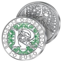 10€ Argent Archange Raphaël en Couleurs