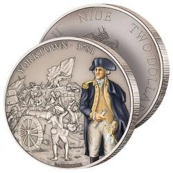 2$ Argent Bataille de Yorktown