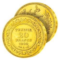 20F Or Tunisie «Française»