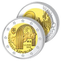 2 Euros Slovaquie 2018 – 25 ans de la République