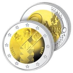 2 Euros Estonie 2018 – Centenaire des États Baltes
