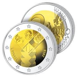 2 Euros Lettonie 2018 – Centenaire des États Baltes