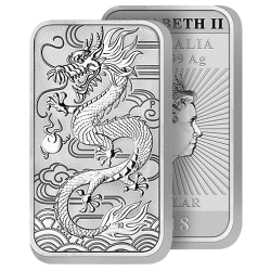 Dollar Argent Pur Dragon 2018