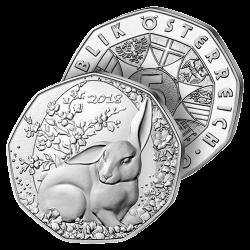 5 €uros Argent Lapin de Pâques