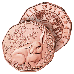 5 €uros Lapin Rouge de Pâques