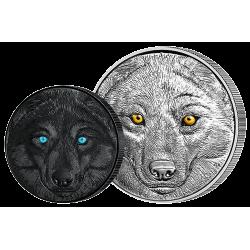 15 Dollars Argent Pur Le Loup