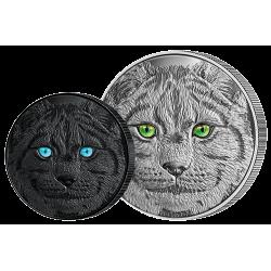 15 Dollars Argent Pur Le Lynx