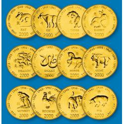 Les 12 Monnaies du Zodiaque...
