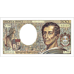 200 Francs Montesquieu type...