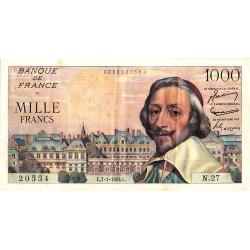 1.000 Francs Richelieu type...