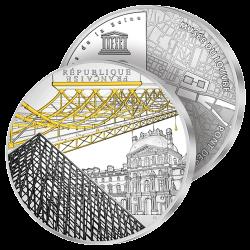 10€ Argent Pyramide du Louvre
