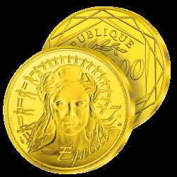1.000€ Or Pur Marianne 2018