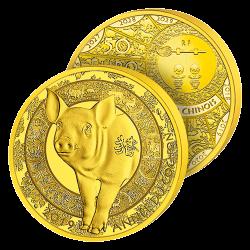 50€ Or Pur 2019 Année du...
