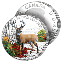 20$ Argent Le Grand Cerf 2018